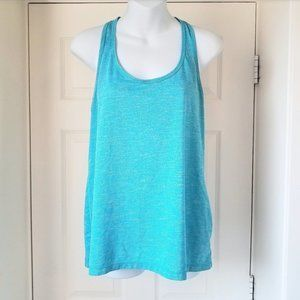 Old Navy Dry Fit Teal T-Strap Back Tank Top Blue